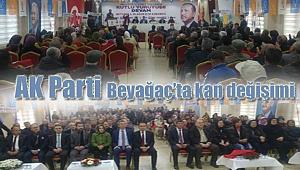 AK Parti Beyağaç'ta kan değişimi