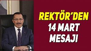 Rektör Bağ'dan 14 mart mesajı