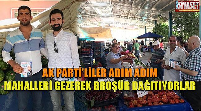 AK Partililer broşür dağıttı
