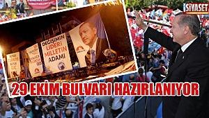 Cumhurbaşkanı Erdoğan için hazırlıklar başladı