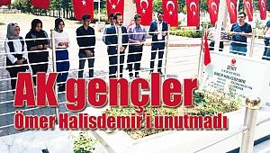 AK gençler Ömer Halis Demir'i unutmadı