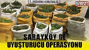 Sarayköy'de uyuşturucu operasyonu