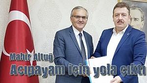 AK Partili Mahir Altuğ Acıpayam için yola çıktı
