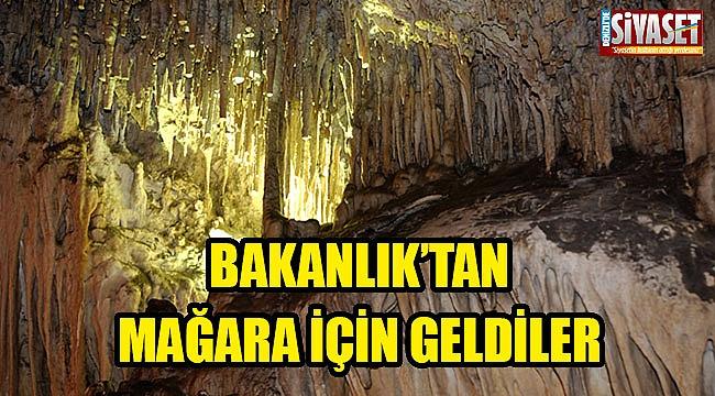 Bakanlık'tan mağara için geldiler