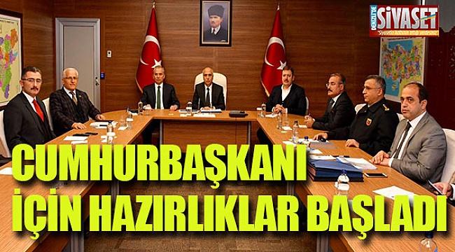 Cumhurbaşkanı Recep Tayip Erdoğan için hazılıklar başladı