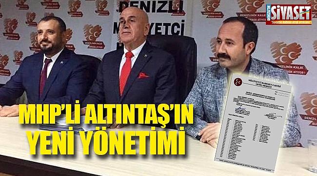 MHP'li Altıntaş'ın yeni yönetimi