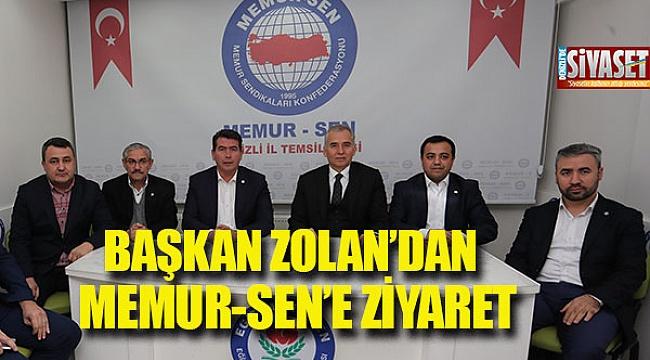 Başkan Zolan'dan Memur-Sen'e ziyaret