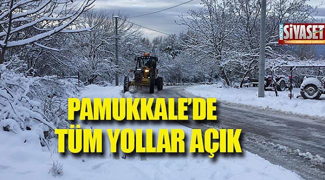 Pamukkale'de tüm yollar açık