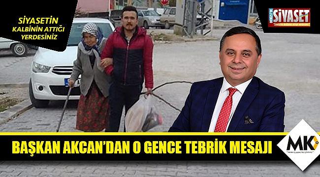 Başkan Akcan'dan o gence tebrik mesajı