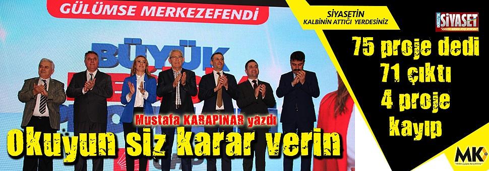 CHP'li Doğan, 75 proje dedi 71 çıktı.