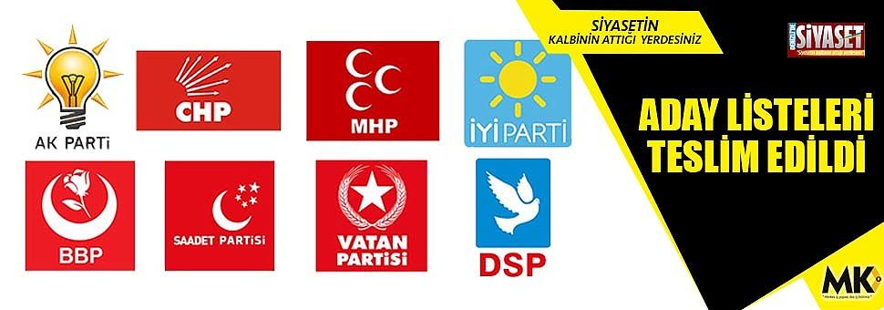 Denizli'de belediye başkan adayları kesinleşti