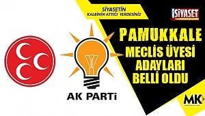 İşte Pamukkale meclis üyesi adayları