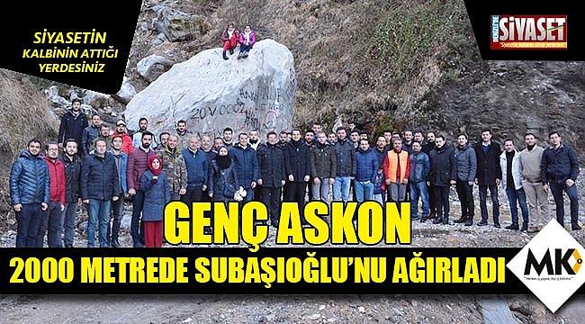Genç ASKON,  2000 metrede Subaşıoğlu'nu ağırladı