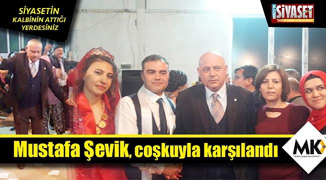 Mustafa Şevik, coşkuyla karşılandı