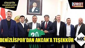 Denizlispor'dan Akcan'a teşekkür