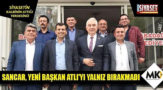 Sancar, yeni başkan Atlı'yı yalnız bırakmadı