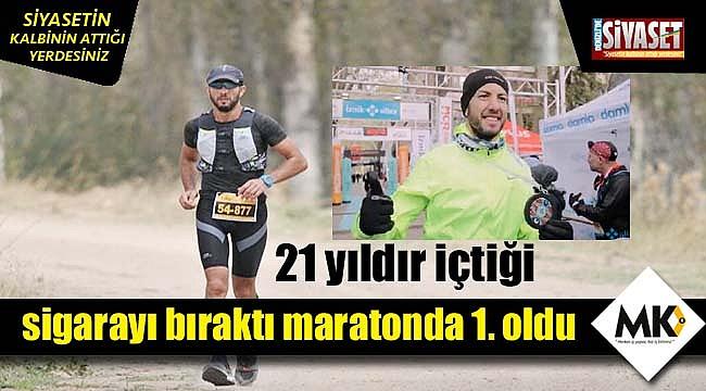 21 yıldır içtiği sigarayı bıraktı maratonda 1. oldu