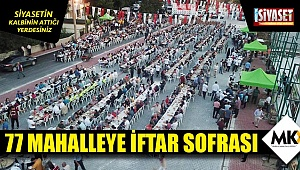 77 mahalleye iftar sofrası