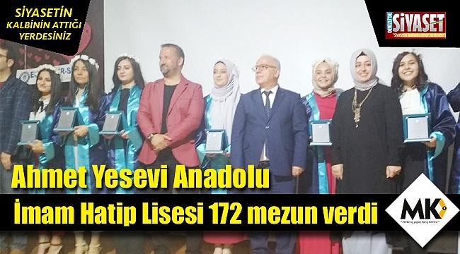 Ahmet Yesevi Anadolu İ.H.L 172 mezun verdi