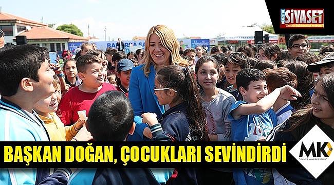 Başkan Doğan, çocukları sevindirdi