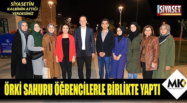 Başkan Örki sahurunu öğrencilerle birlikte yaptı