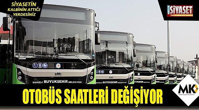 Bazı otobüslerin hareket saati değişiyor