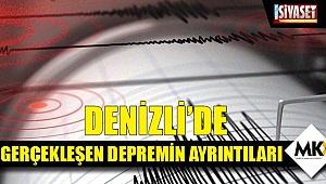 Denizli'de gerçekleşen depremin ayrıntıları