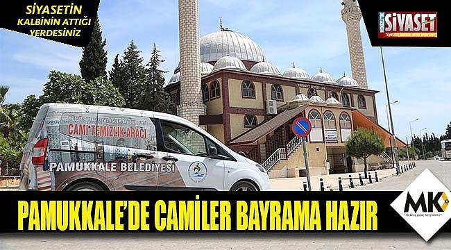 Pamukkale'de camiler bayrama hazır