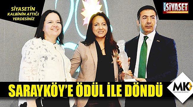 Sarayköy'e ödül ile döndü