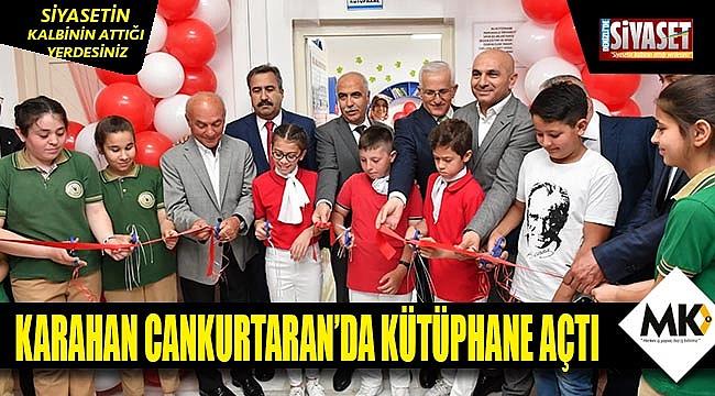 Vali Karahan Cankurtaran'da kütüphane açılışına katıldı
