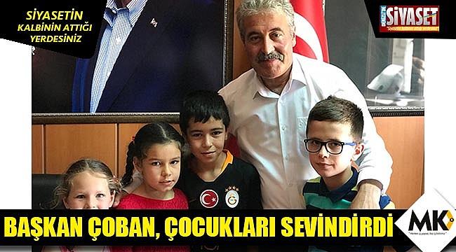 Başkan Çoban, çocukları sevindirdi