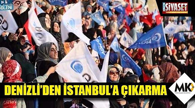 Denizli'den İstanbul'a çıkarma