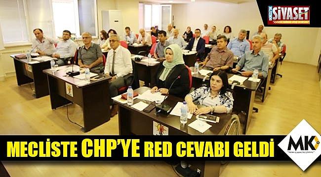 Mecliste CHP'ye red cevabı geldi
