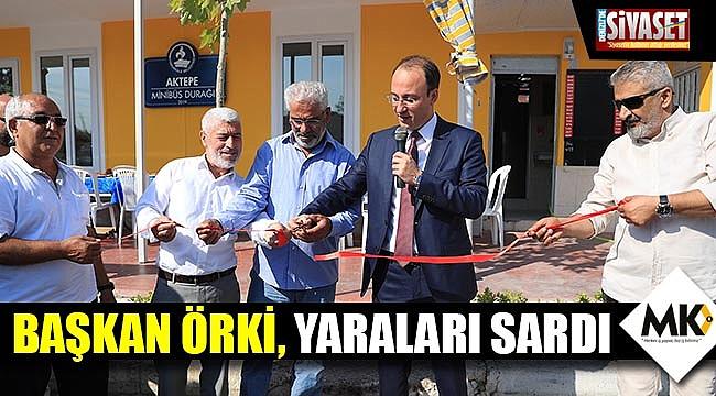 Başkan Örki, yaraları sardı