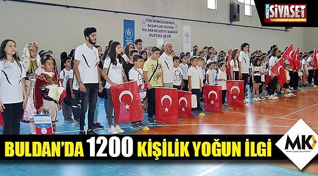 Buldan'da 1200 kişilik yoğun ilgi