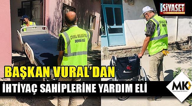 Başkan Vural'dan ihtiyaç sahiplerine yardım eli