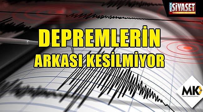 Depremlerin arkası kesilmiyor