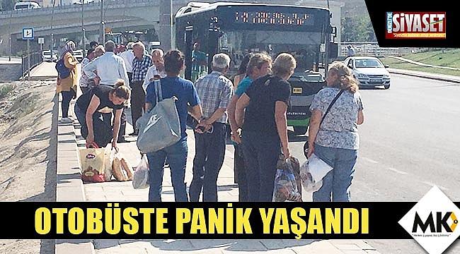 Otobüste panik yaşandı