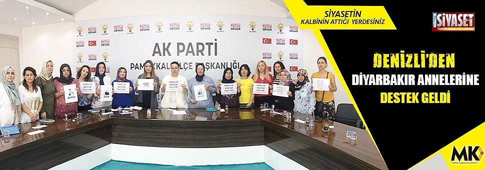 Denizli'den Diyarbakır annelerine destek geldi