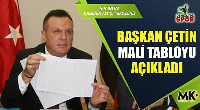 Denizlispor'un 31 milyon TL borcu,  26 milyon TL alacağı var