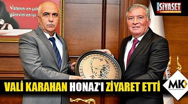Vali Karahan Honaz'ı ziyaret etti