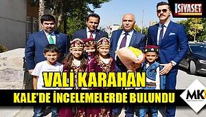 Vali Karahan, Kale'de incelemelerde bulundu