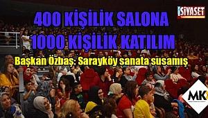 400 kişilik salona 1000 kişilik katılım