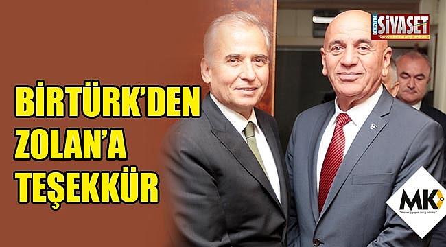 Birtürk'den Zolan'a teşekkür