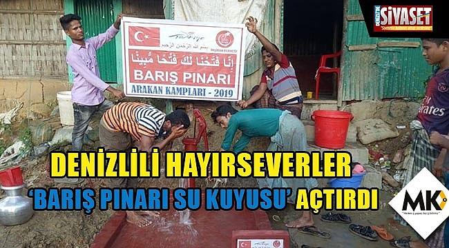 Denizlili hayırseverler 'Barış Pınarı Su Kuyusu' açtırdı