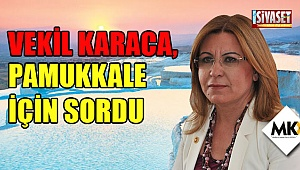 Vekil Karaca, Pamukkale için sordu