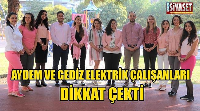 Aydem ve Gediz Elektrik çalışanları dikkat çekti