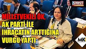 Milletvekili Ök, AK Parti ile ihracatın arttığına vurgu yaptı
