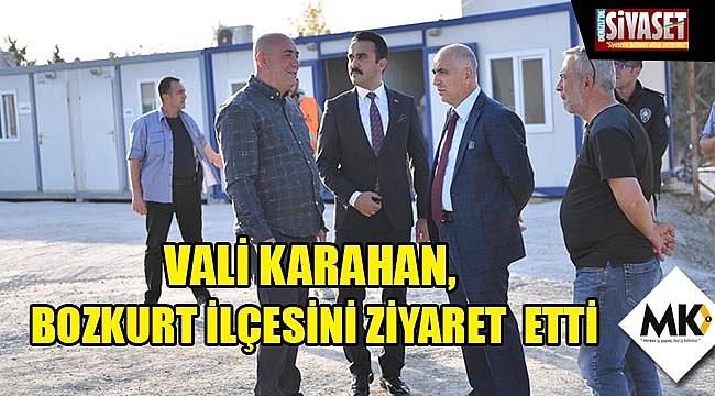 Vali Karahan, Bozkurt ilçesini ziyaret etti