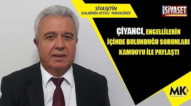 Çiyancı: Engelsiz bir Türkiye istiyoruz